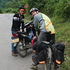 A student heading to Luang Prabang stopped to chat with us