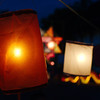 In the evening, the lanterns are lit throughout the city