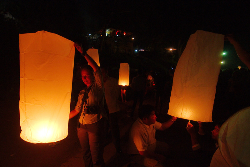 It took a lot of convincing Yann, but eventually we got a sky lantern and took part in the festivities