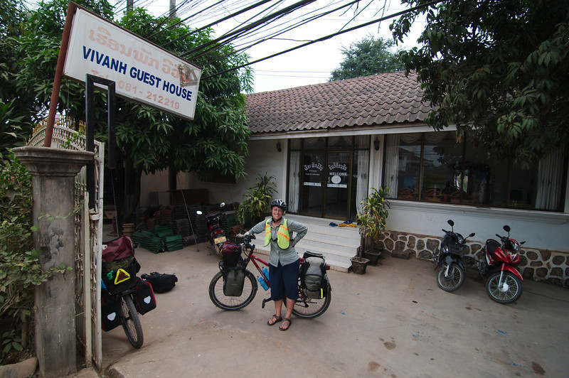 Leaving Vivanh Guest House in Oudom Xay