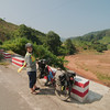 Heading to Luang Namtha from the Chinese border at Boten