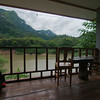 View from our room at the Nam Ou River Lodge