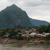Nong Khiaw from the Nam Ou River bridge