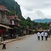 Nong Khiaw's quiet main street