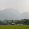 The mountains begin to appear as we approach Nong Khiaw