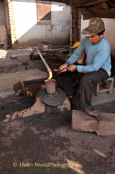 Ban Hat Hien Blacksmith Works the Hot Steel