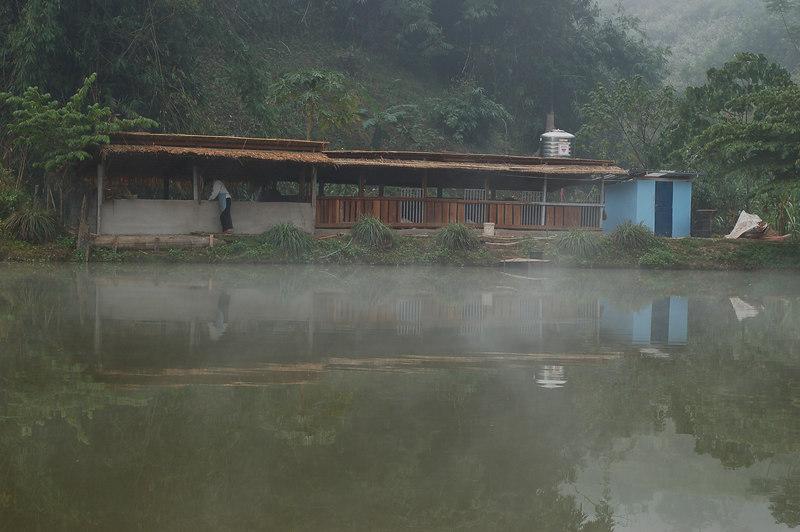 Early morning at the fish farm