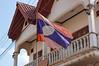 The Laos flag.