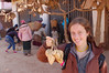 Emilie very happy to have found some excellent roots from a vendor.