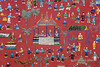 Glass mosaic wall, village life  Wat Xieng Thong, Luang Prabang, Laos
