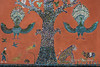 Glass mosaic, tree of life detail, Wat Xieng Thong, Luang Prabrang, Laos