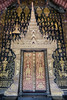 Beautiful main doors to Wat Xieng Thong temple, Luang Prabang, Laos