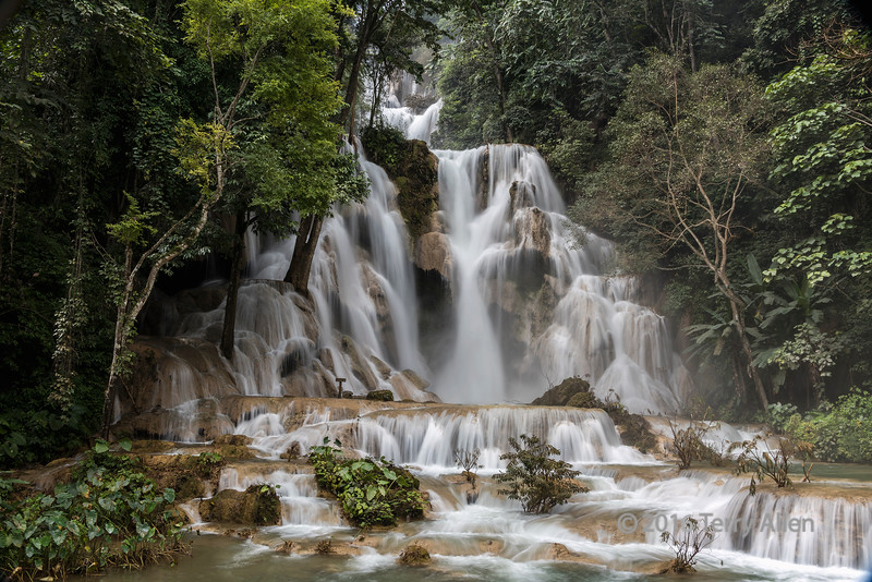 Kuang Xi (Si) waterfall at high water, southwest of Luang Prabang, Laos