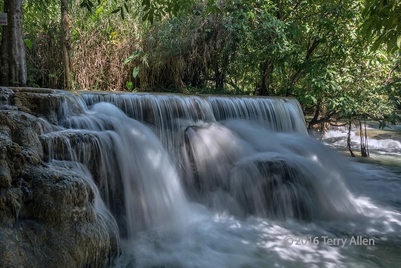 Small waterfall below the Kuang Xi falls, southwest of Luang Prabang, Laos