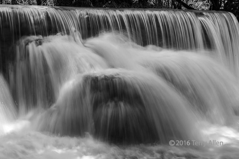 Waterfall at hight water, below the Kuang Xi fall, Laos