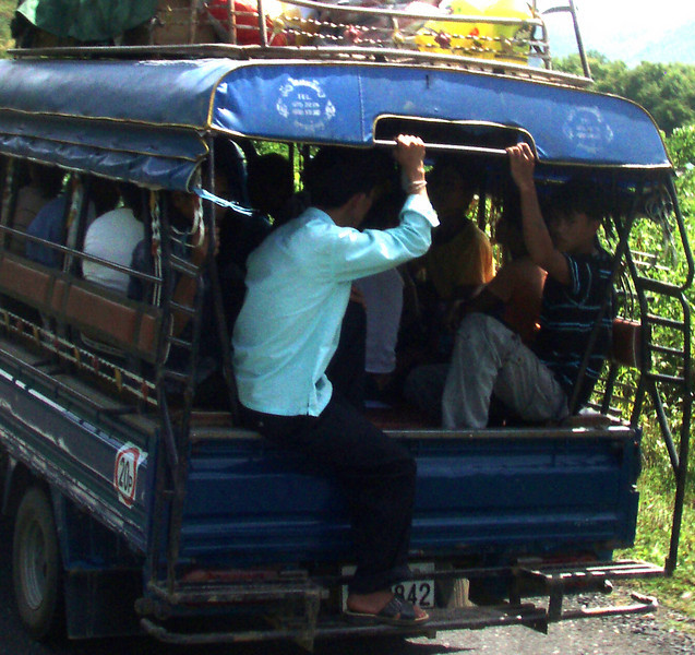 songthaew - basically a truck bed with two benches