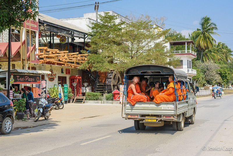 Monks Heading to a Funeral