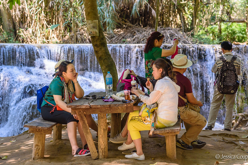Picnic at Kuang Si Waterfall