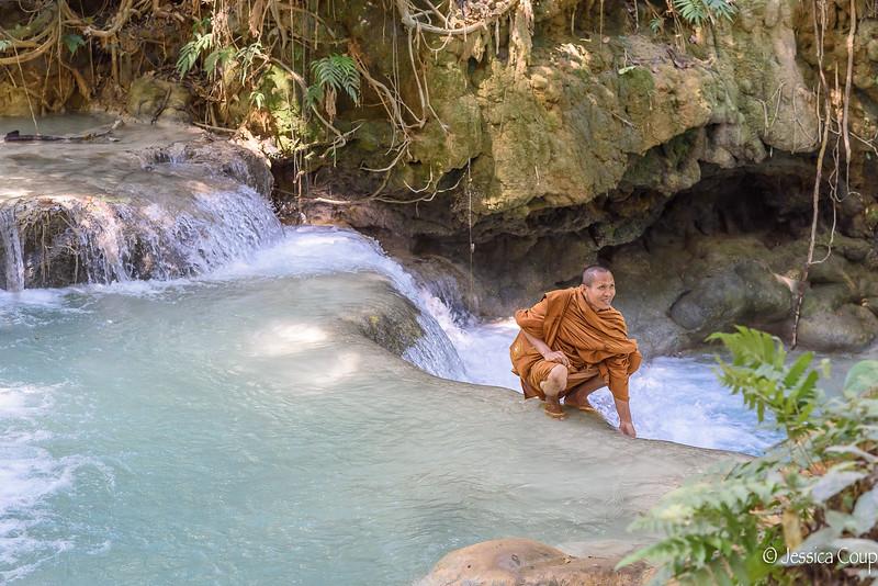 Taking a Cool Break in the Kuang Si Waterfall