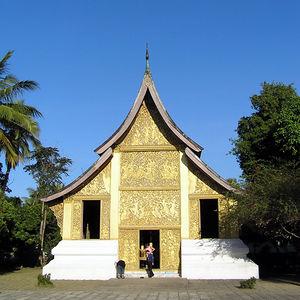 The Wat Xiang Thong Monastery in Louang Prabang in December 2005