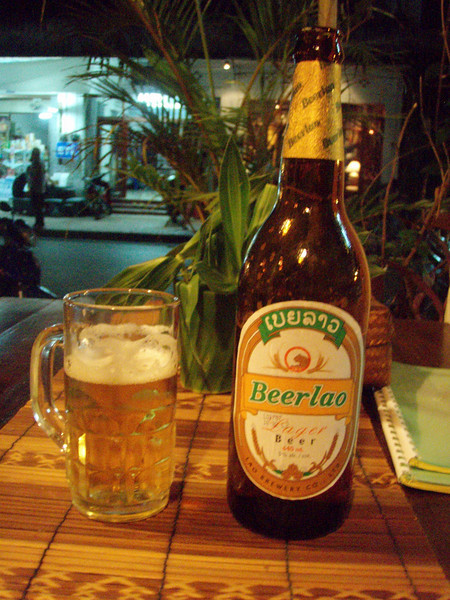 Beerlao - drink of choice in Laos