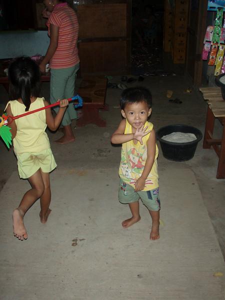 Sabaidi (suh-BY-dee) - Hello in Lao