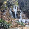 About an hour from Luang Prabang are the Kuang Si waterfalls, multiple levels of turquoise water