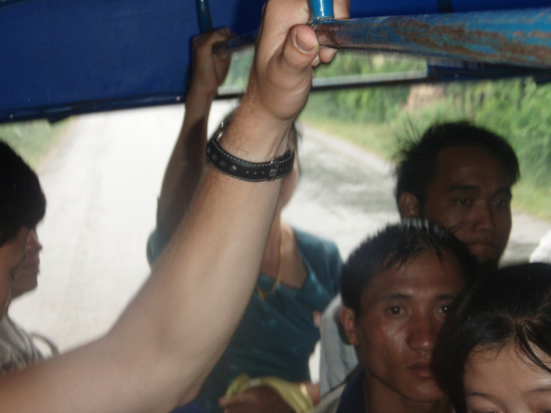 Being stuffed into a songthaew with 20 people and there bags of rice and stuff - it felt good to get off that thing