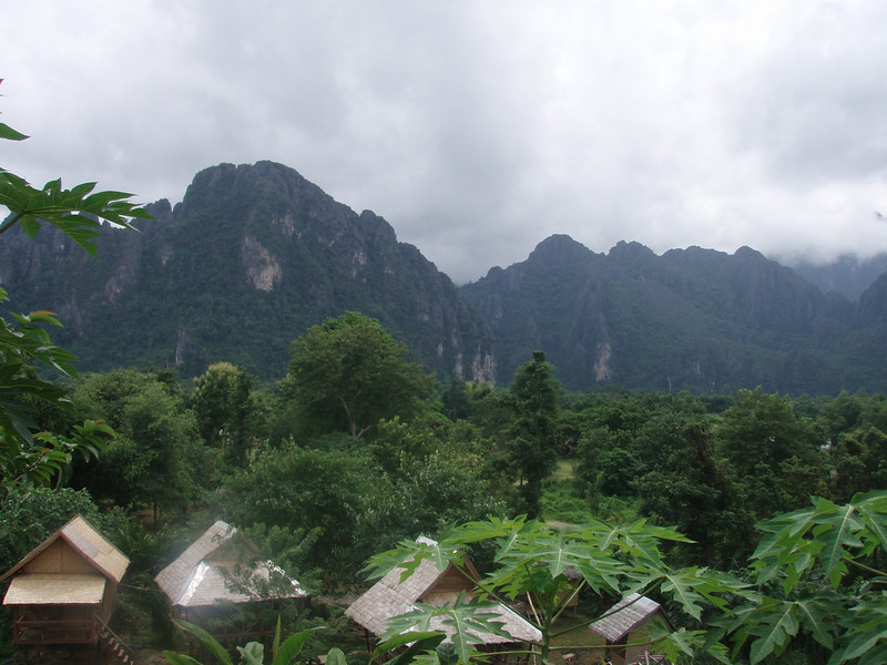 View from my 30000 kip(3 dollars) guest house