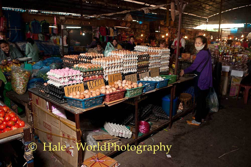 An Egg Stall at Vientiane Morning Market
