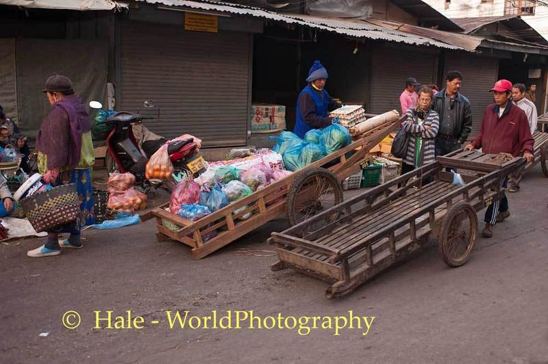 Vientiane Morning Market Porters