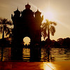 "The imposing yet phenomenal Patuxai Arch during sunset - Vientiane, Laos.  To view my travel gallery from Vientiane, Laos click on the photo. <a href=""http://nomadicsamuel.com"">http://nomadicsamuel.com</a>"