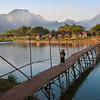 Early morning on the Nam Song River, Vang Vieng, Laos.
