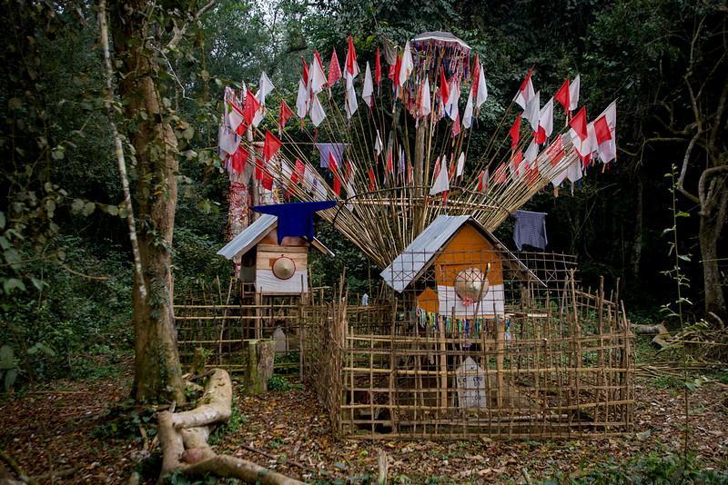 Spirit house. Luang Nam Tha.