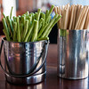 Green beans and chopsticks, Pakse, Laos