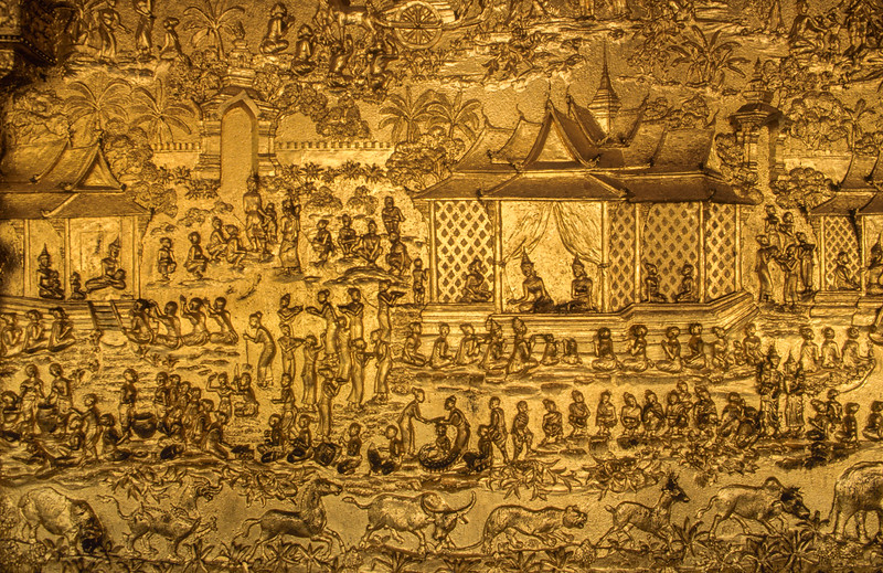Temple detail. Luang Prabang.