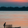 Sunrise on Mekong River, Champasak, Laos.