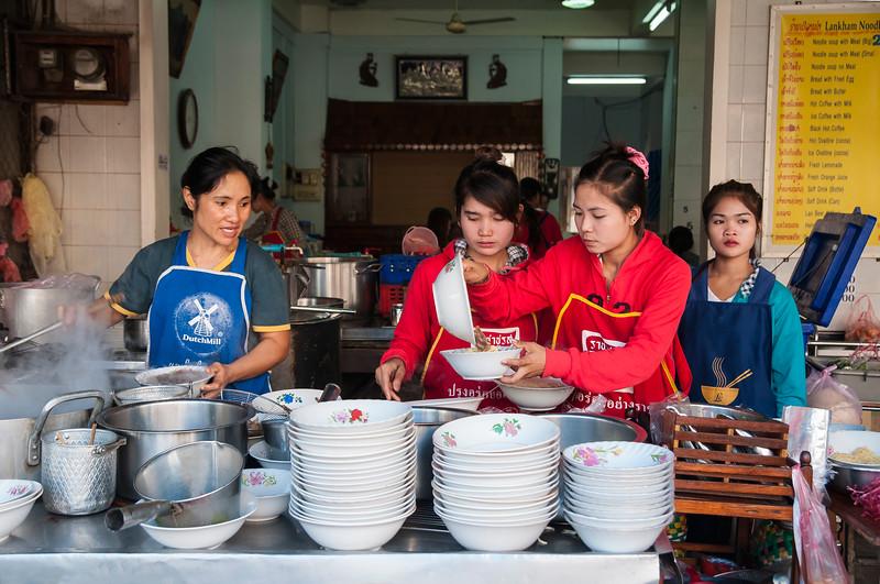 Noodle shop, Pakse, Laos