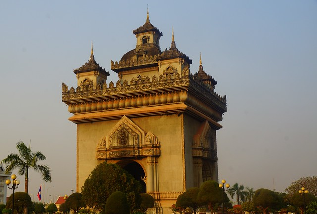 The triumphal arch in Vientiane