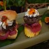 desi fusion lamb burger slider traditional and gluten free