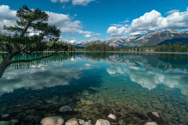 Lake view in Jasper, Alberta, Canada
