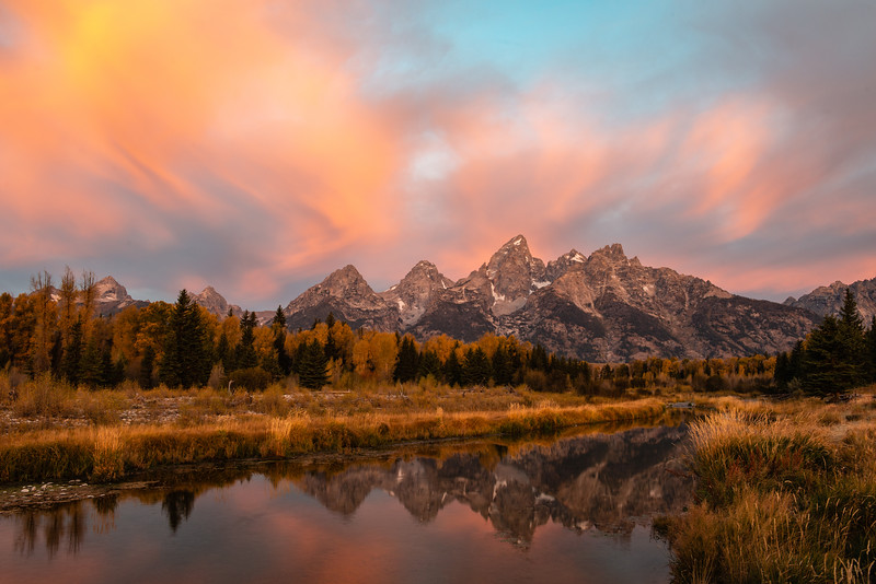 Dawn's Early Light on the Tetons