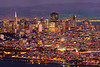"Photo #3 of 4 from a 30,000 pixel-wide panorama of San Francisco.  This photo can be printed at 4 feet wide with fine resolution of every window with a Marin view!  The entire panorama is available at  <a href=""http://www.patricksmithphotography.com"">http://www.patricksmithphotography.com</a> and can be printed at 16 feet wide with fine resolution!  The entire east side of San Francisco is visible from the Marin Headlands just as the city lights become as bright as the daylight on a very clear evening.  The original photo is a stitched panorama created with the Canon 5D MkII consisting of two l photos tall and 7 photos wide for a total 29677 pixels wide x 4466 high with the Canon 500mm F4 lens.   Explore the city!"