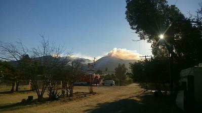 Suburb area of Valle de Las Palmas. Fire at radio site. Near HWY 2