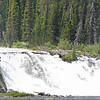 Panorama photo of the water fall in yellowstone