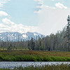 Panoramic view in yellowstone