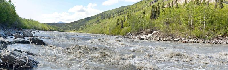 Alaska river in june