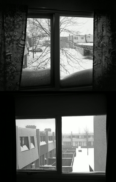 Diptych : Snow Storm, Chesterton Drive