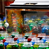 Goldfish, bettas, and hermit crabs wait to be won at the Larimer County Fair Friday, August 4, 2017, in a carnival game. (Michelle Risinger/ Loveland Reporter-Herald)