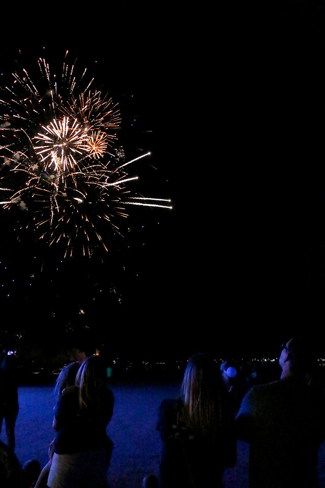 Families stick it out passed bedtime for the fireworks Friday, August 4, 2017 at the Larimer County Fair. (Michelle Risinger/ Loveland Reporter-Herald)